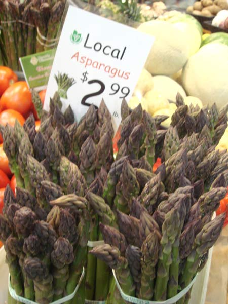 Local asparagus for sale at Covent Garden Market in London, Ont.