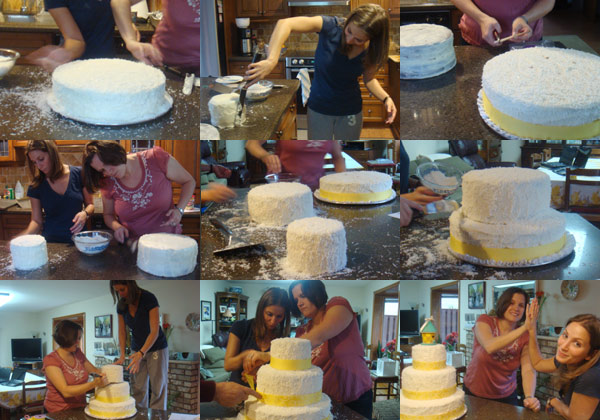 The making of Natalie's shower cake