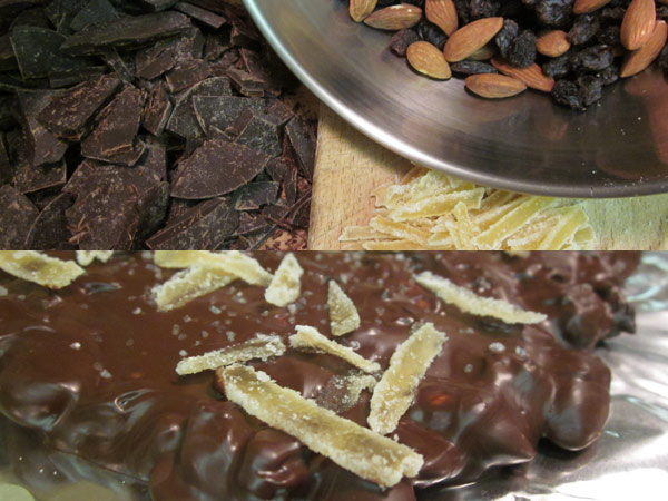 Winter Dried Fruit and Nut Chocolate Bark
