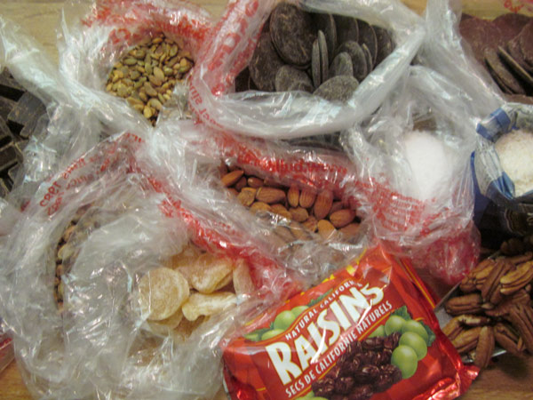 Ingredients for Chocolate Bark
