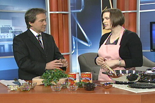 Amanda with Tom Knowlton on the CTV News at Noon on Friday, March 2, 2012.